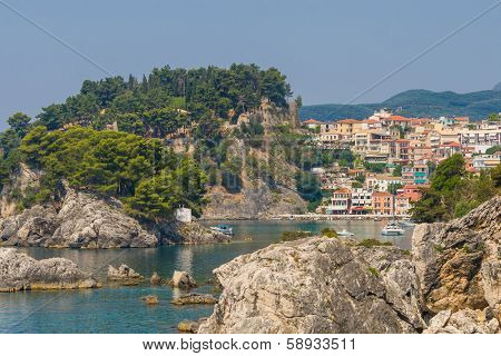The village of Parga in Epirus Greece