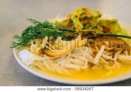 Rice vermicelli thai foods