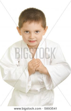 Karate Boy In Greeting Bow