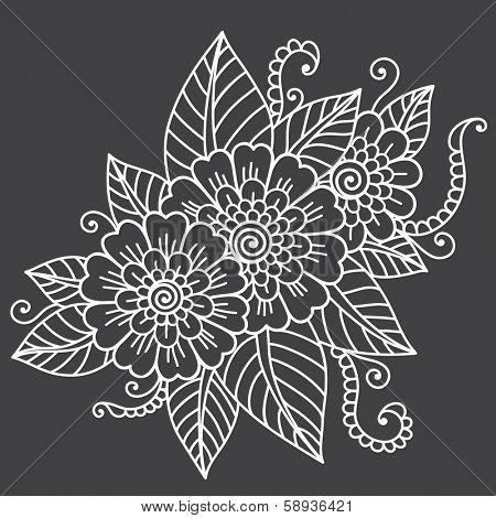 Vector flower ornament.