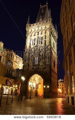 Prague night street