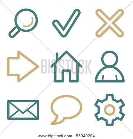 Basic web icons, two color series