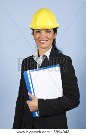 Happy Architect Woman