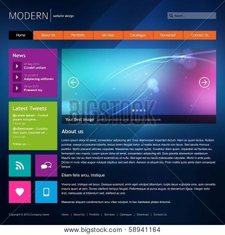 Modern website design template.