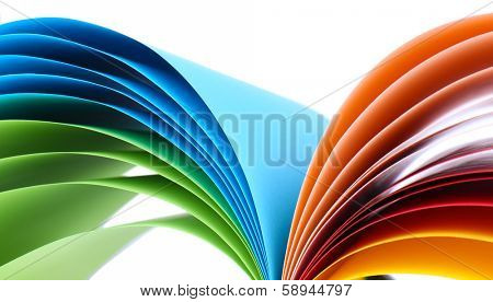 Colorful art paper isolated on white
