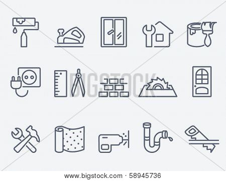 Home repair icons