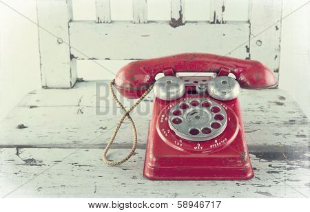 Red Toy Telephone