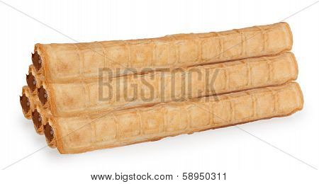 Wafer Tubules With Cream Of Sweet Boiled Condensed Milk
