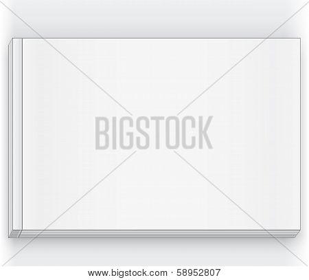 Blank White Rectangular Magazine