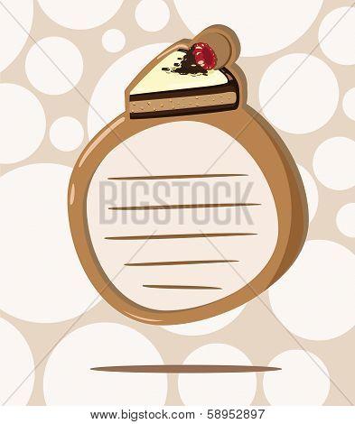 vector sticker cake chocolate