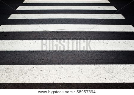 Zebra Pedestrian Crossing.