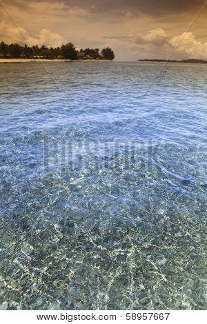 Tropical island of Gili Air, Indonesia