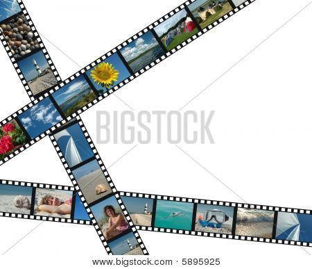 Filmstrips With Summer Vacation Photos