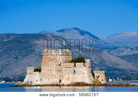 Castle Bourtzi In Nafplio