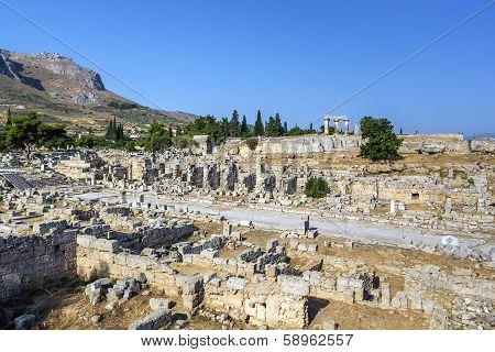 Ruins Of Ancient Corinth