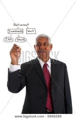 Minority Businessman Planning Retirement