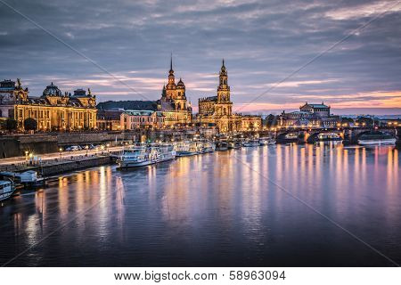 Dresden, Germany above the Elbe River.
