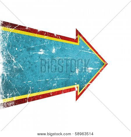 colorful grunge arrow on a white background