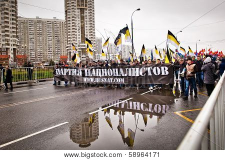 4Th November In Moscow, Russia. Russian March