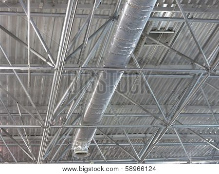 Abstract Contemporary Metallic Structures Roofing Technology