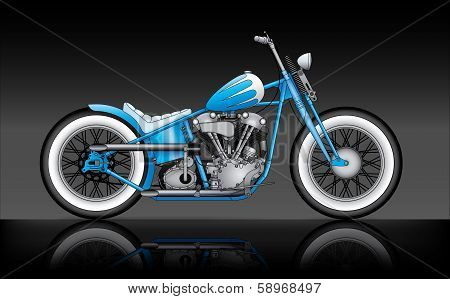 Custom Bobber On Black Background