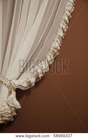 Tulle Curtain As Background