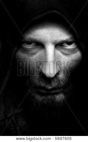 Dark Portrait Of Scary Evil Sinister Man