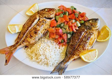 Grilled Gilt-head Bream And Red Snapper