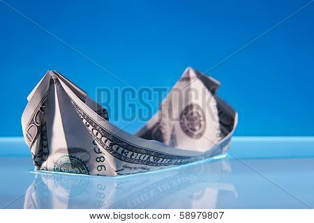 Dollar bill boat
