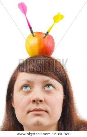 Woman And Apple With Arrows