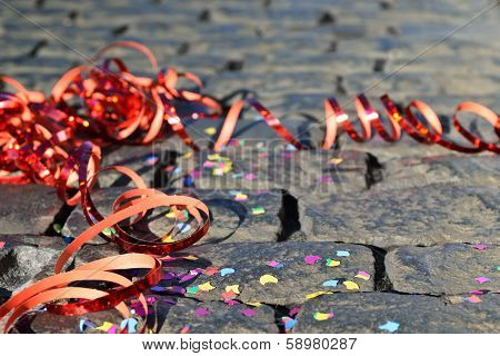 celebrate - streamer on the ground