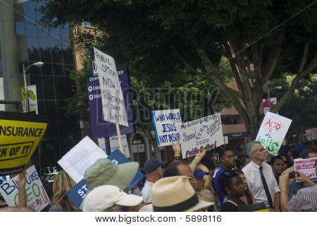 "Los Angeles-september 22:  ""big Insurance: Sick Of It"" Rally At Anthem Blue Cross Insurance Company"