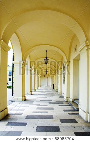 Arcade Gallery Of Schoenbrunn Palace In Wien