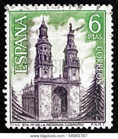 Postage Stamp Spain 1969 Santa Maria De La Redonda, Logrono