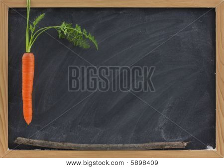 Carrot, Stick And Blackboard - School Motivation