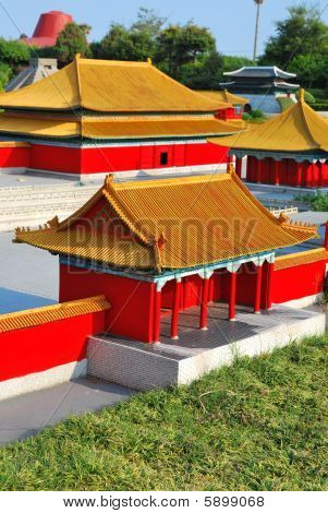 Top View Of Chinese Style Architecture