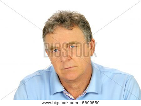 Brooding Middle Aged Man