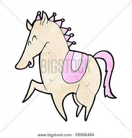 cartoon prancing horse