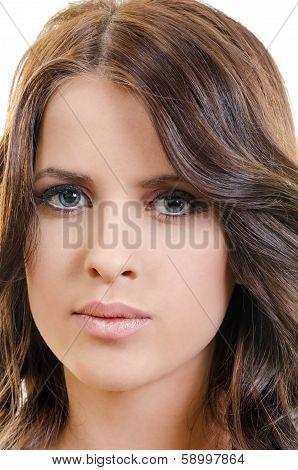 Closeup Face Woman