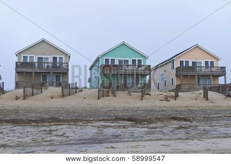Cape Hatteras Beach Houses Of Different Colors