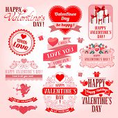 Valentines Day collection of design elements.