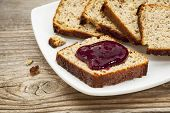 stock photo of home-made bread  - healthy breakfast concept  - JPG