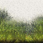 Painted Abstract Grass Texture Background