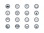 stock photo of angry smiley  - Face expressions - JPG