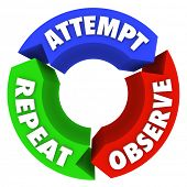 Succeed Attempt Observe Repeat Success Diagram Steps