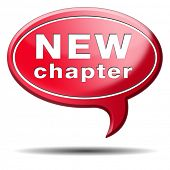 picture of start over  - new chapter fresh start over or begin again and have an extra opportunity - JPG