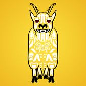 picture of tlingit  - Vector illustration of a mountain goat - JPG