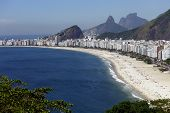 stock photo of carnival rio  - Copacabana beach - JPG