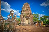 Eastern Mebon temple in Angkor wat complex, Cambodia. Built during the reign of King Rajendravarman,