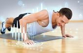 stock photo of training gym  - fitness - JPG